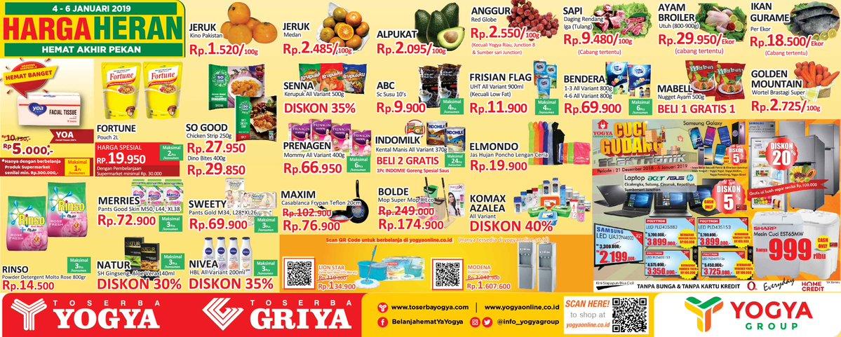 #Yogya - Promo Katalog Harga Heran Akhir Pekan Periode 04 - 06 Januari 2019