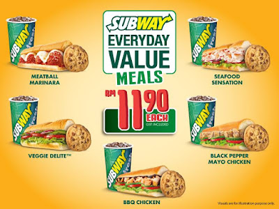 Subway Malaysia Everyday Value Meals Set Discount Promo