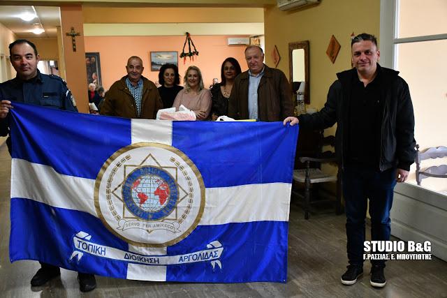 Ευχαριστήριο της Διεθνούς Ένωσης Αστυνομικών Αργολίδας για την προσφορά ειδών στο Γηροκομείο Ναυπλίου