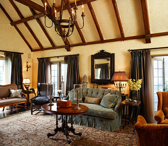 Old World Decorating: New Home Interior Design: Old World Style For A Tudor