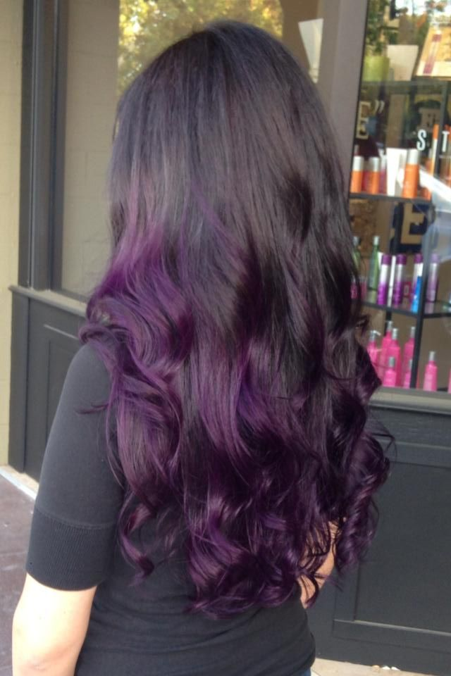 Gorgeous Purple Ombre Hairstyles The Haircut Web