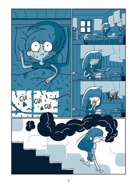 """page de """"La soutenable légéreté de l'être"""" par Eléonore costes et Karensac chez Delcourt"""