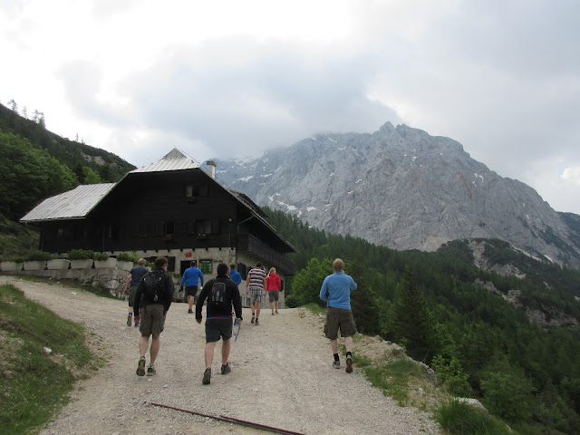 Hiking towards Prisank mountain, Slovenia