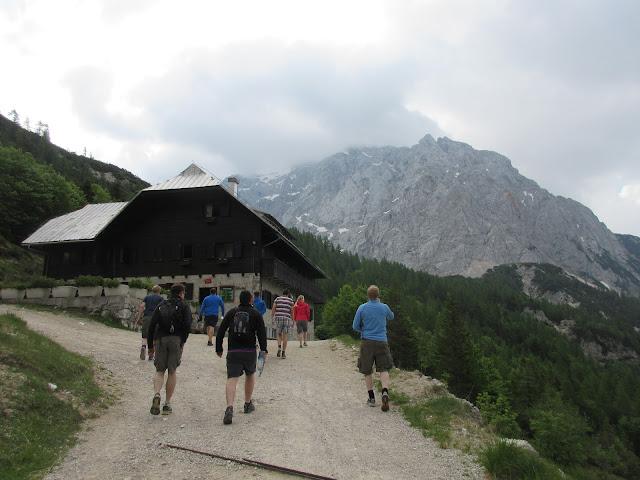 Hiking towards Prisank mountain, Slovenia