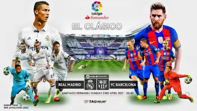 مشاهدة مباراة الكلاسيكو ريال مدريد وبرشلونة بث مباشر تعليق فهد العتيبي بي أن سبورت HD1
