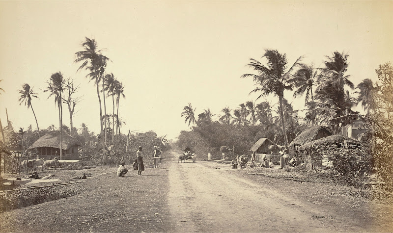 Village Road scene in Bengal - 1860's