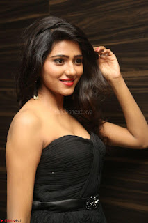 Shalu Chourasiya in spicy Sleeveless Strapless Black Top at O Pilla Nee Valla Movie Audio Launch Feb 2017 072.JPG