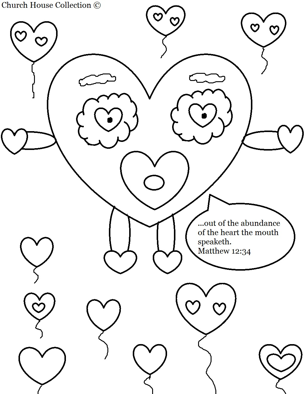 church house collection blog: valentine's day heart coloring page