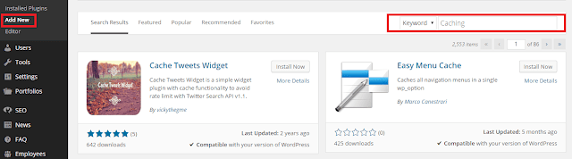 Speed Up Your WordPress Site - Use Caching Plugins