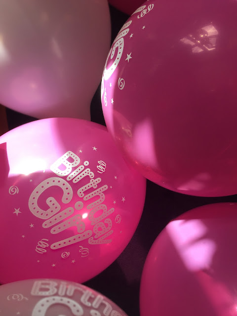 birthday, birthday girl, pink balloons, celebration, party, party decorations, fun,