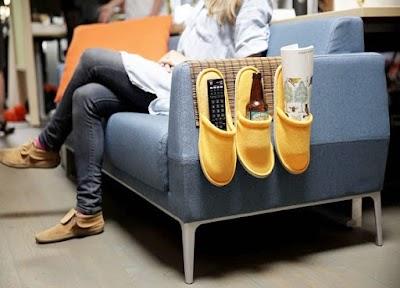 Organización bolsillos para sillones con zapatillas