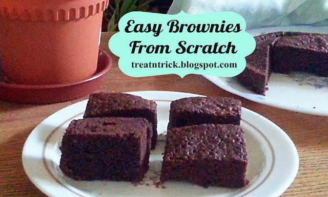 Easy Brownies From Scratch Recipe @ treatntrick.blogspot.com