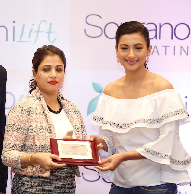 Mrs Jharna Dhar, General Manager,ISAAC with Actress Gauhar Khan