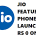 JIO Feature Phone Launched : Rs ZERO Only