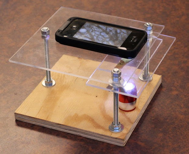 DIY telephone microscope