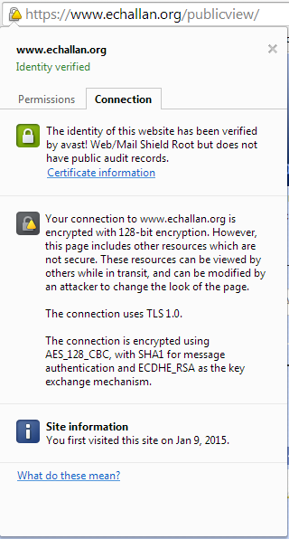 e Challan SSL Certificate