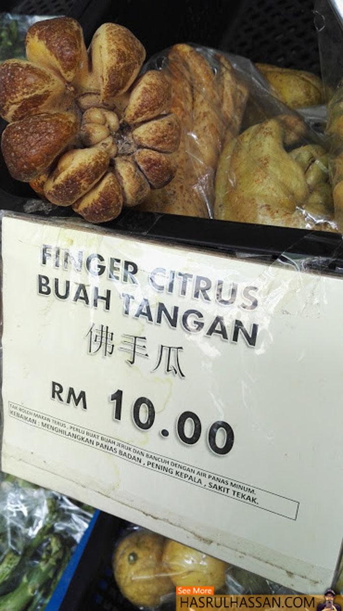 Kebaikan Buah Tangan atau Finger Citrus