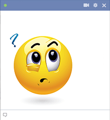 Facebook Emoticon with Question