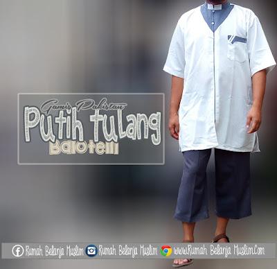 Baju Gamis Pria Balotelli Putih Tulang