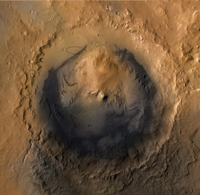 марсоход Curiosity кратер Гейла
