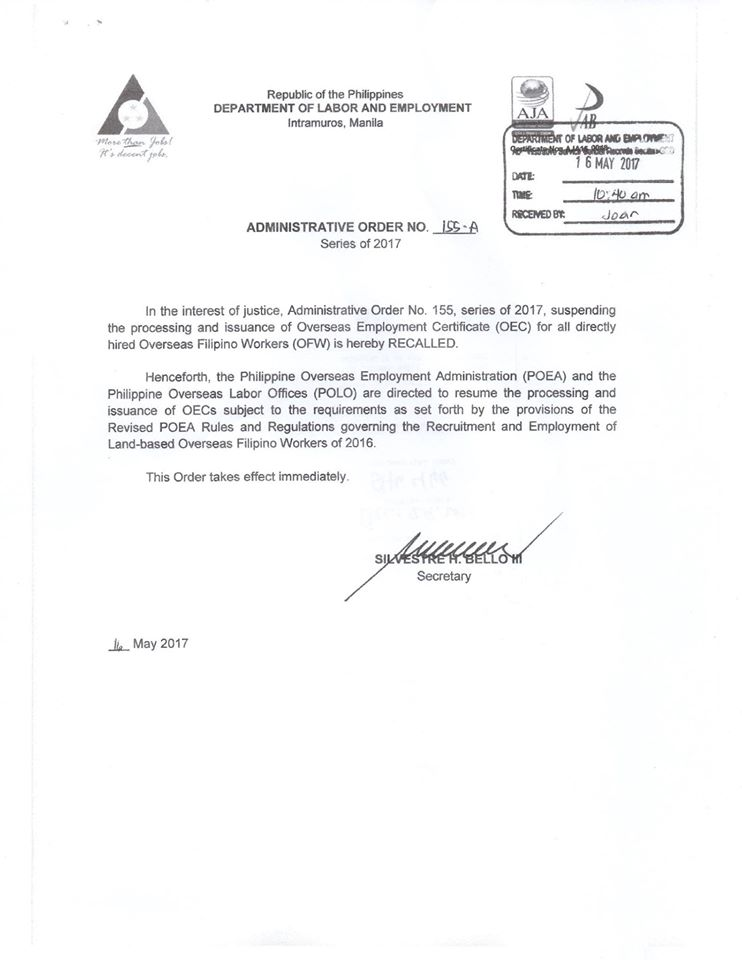 poea Sample Application Letter In Government Philippines on application cover, research fund gift, appreciation for, affairs cover, employment cover,