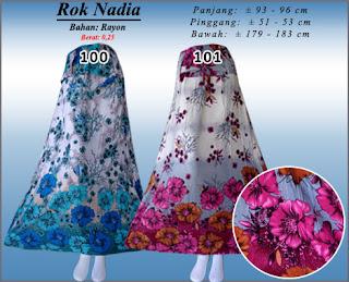 Jual rok panjang rayon motif indah model terkini edisi terbaru 2016