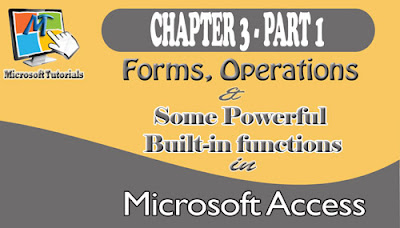 Introduction To Form, An Object Of Access Database