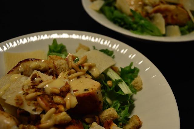 kanacaesar, salaatti, ceasarsalatti, retrokokki