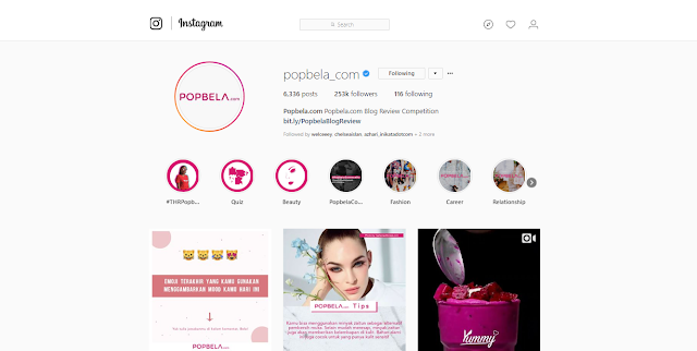 Instagram, Popbela, Perempuan, Beauty, Fashion, Healthy, Hiburan, IDN Indonesia, Popbela Website, Situs Popbela