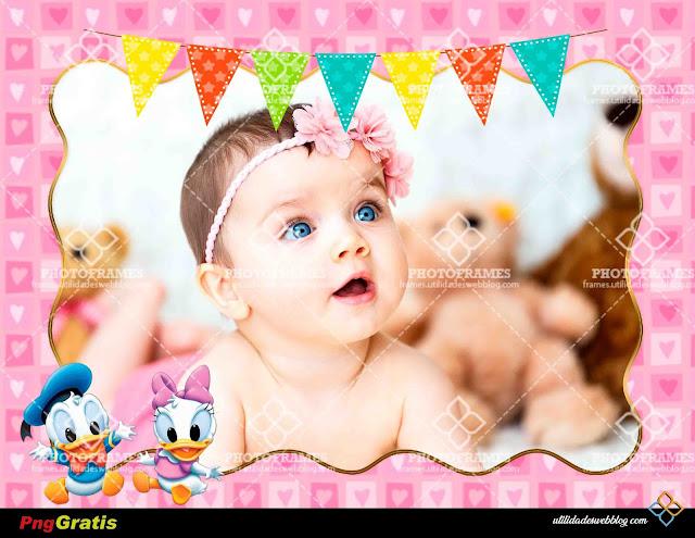 Tierno marco para fotos inspirado en Baby Donald y Baby Daisy