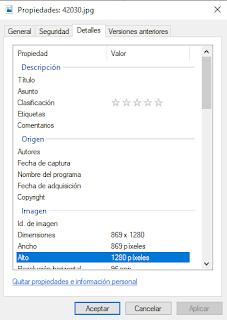 Ventana de eliminar datos en windows