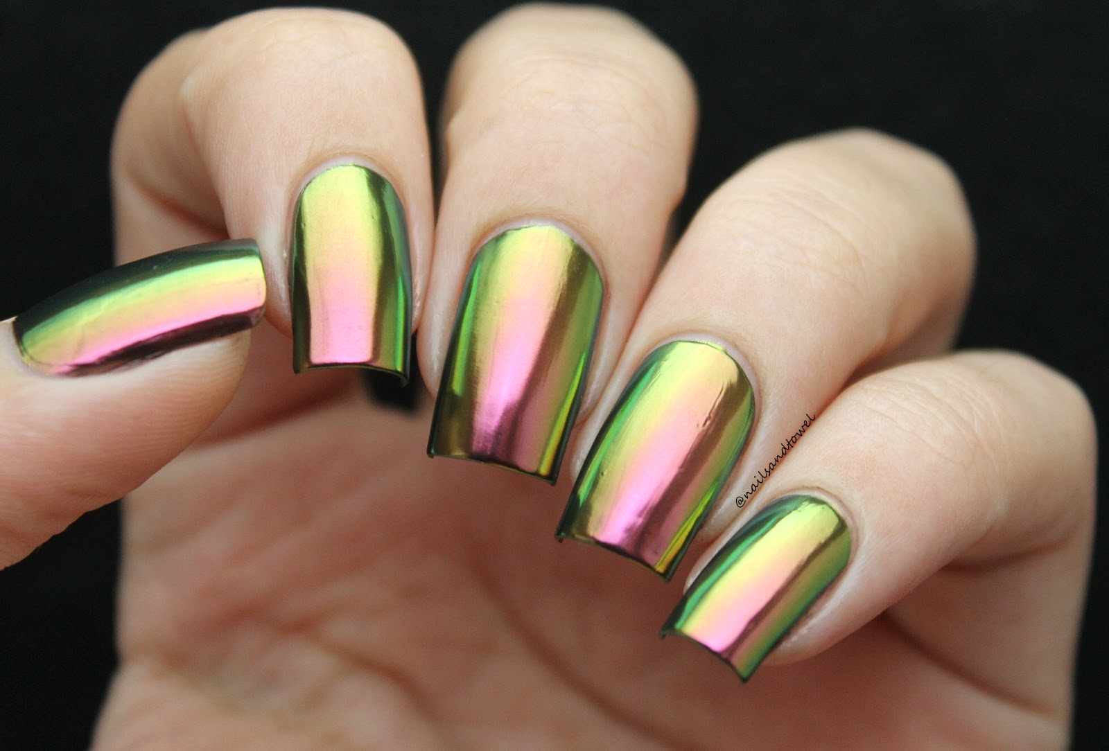 My Nail Art Journal: Multi-Chrome Powder + Whats Up Nails