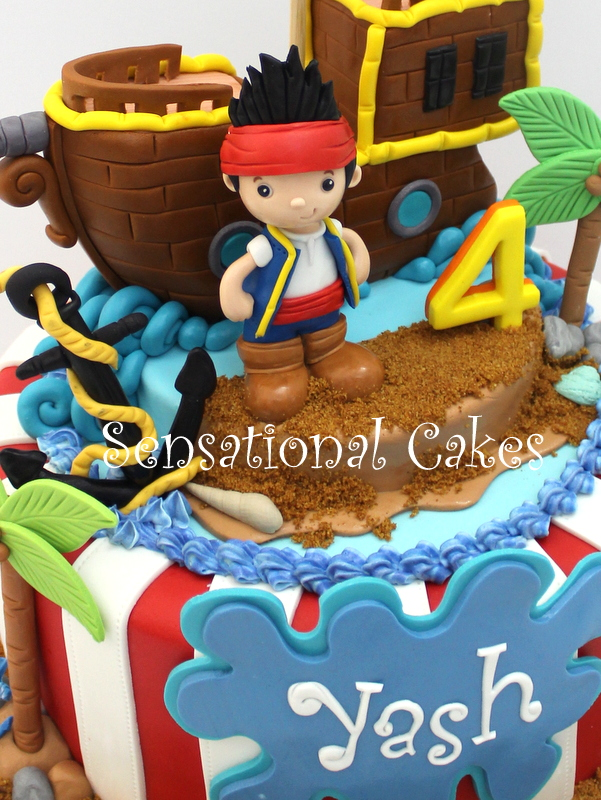 Phenomenal The Sensational Cakes Jake Pirate Ship Boys Cake Singapore 2 Personalised Birthday Cards Arneslily Jamesorg