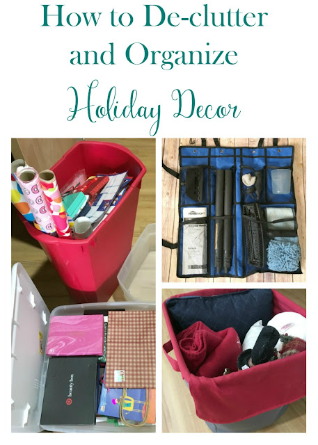 Declutter, clean, and get organized after the holidays with these tips on how to store your home decor.