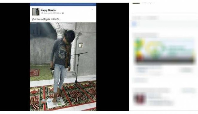 Pemuda Injak Alquran di Masjid Sesali Perbuatannya