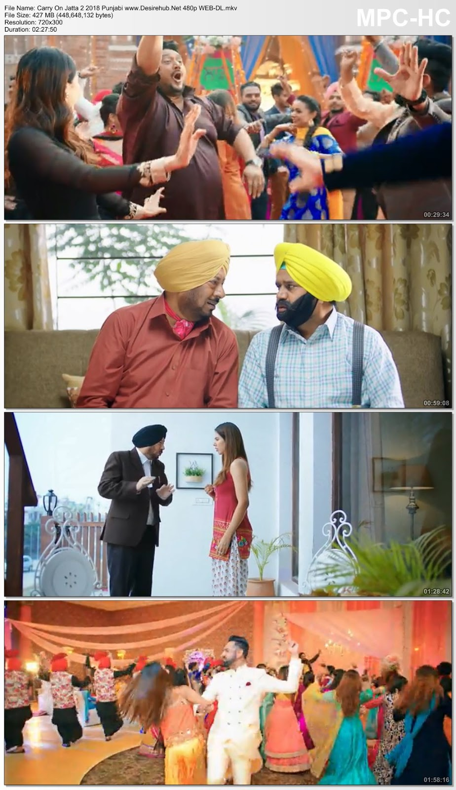 Carry On Jatta 2 (2018) Punjabi 480p WEB-DL 400MB Desirehub