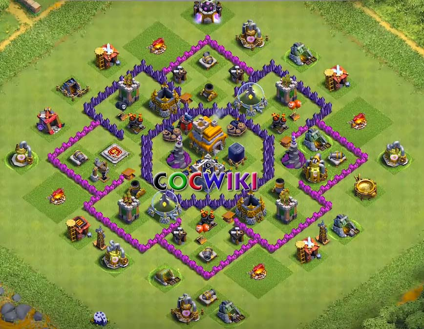coc town hall 7 base design