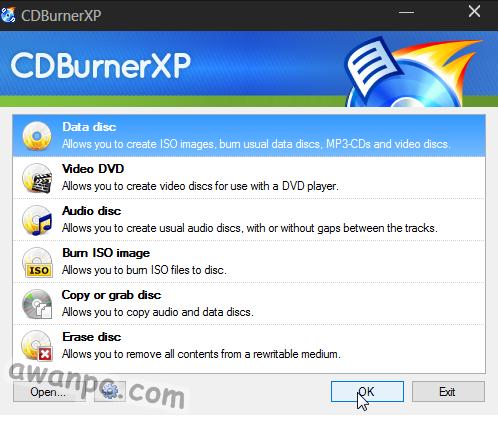 CDBurnerXP 4.5.7.6229 Full Final Terbaru - awanpc