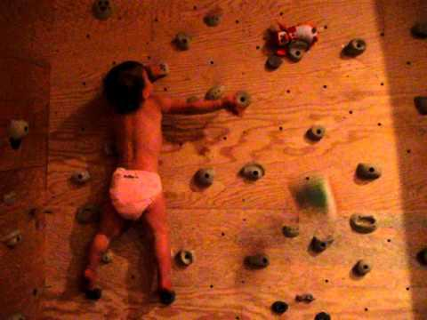 22 month old rock climbing baby damn cool pictures. Black Bedroom Furniture Sets. Home Design Ideas
