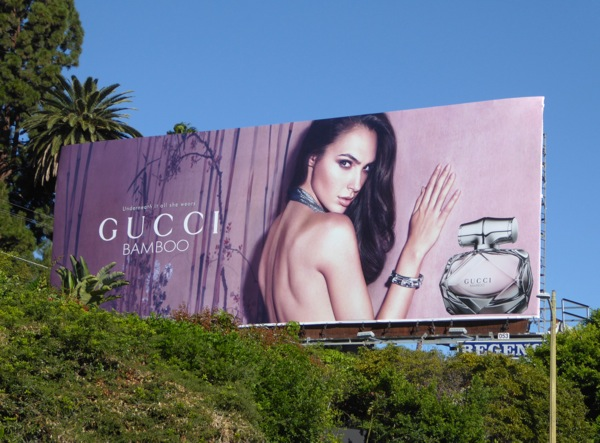 Gal Gadot Gucci Bamboo fragrance billboard
