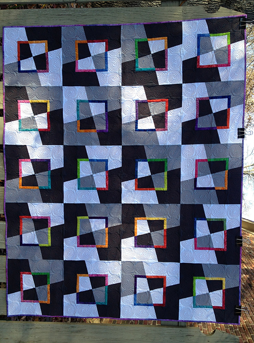 Mad as a Hatter Quilt Free Tutorial designed by Elaine Wick Poplin of MESSYGOAT