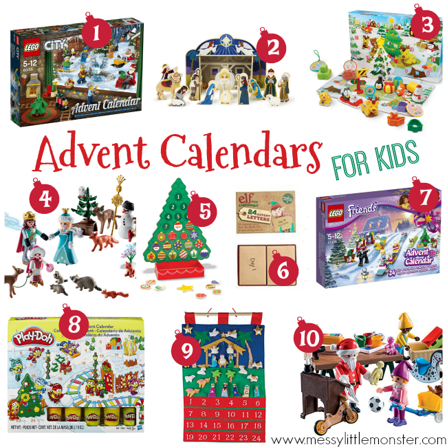 The best advent calendar ideas for kids. Avoid the chocolate with these fabulous toy and activity advent calendars. Lego, playdough, playmobil, fabric and wooden advent calendars included in this fabulous list.