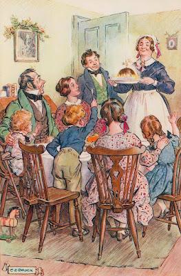 Χριστούγεννια βικτωριανής εποχής σε εικονογράφησητου Charles Edmund Brock / Victorian Christmas illustration by Charles Edmund Brock