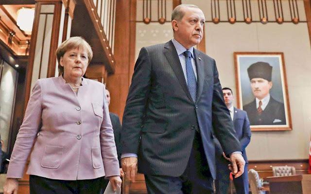 Υπερβολικά ανεκτική για την πλειοψηφία των Γερμανών η στάση Μέρκελ απέναντι στον Ερντογάν