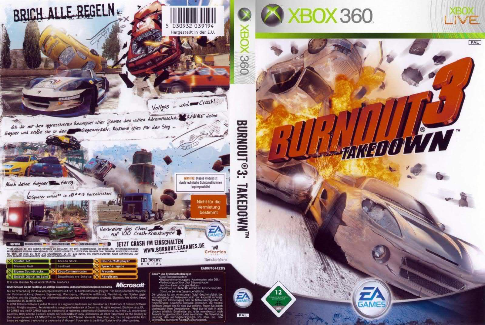 Burnout 3 Takedown - Xbox 360 - Ultra Capas