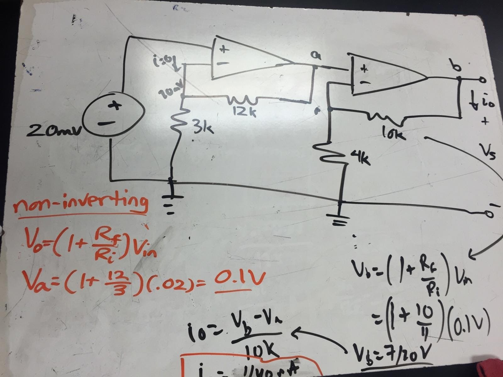 Engineering 44 Hynassman 4 8 16 Day 14 Cascaded Op Amp Circuits Operational Amplifiers Summing Amplifier In This Circuit The Objective Was To Find Current Io Feedback Resistor For Right