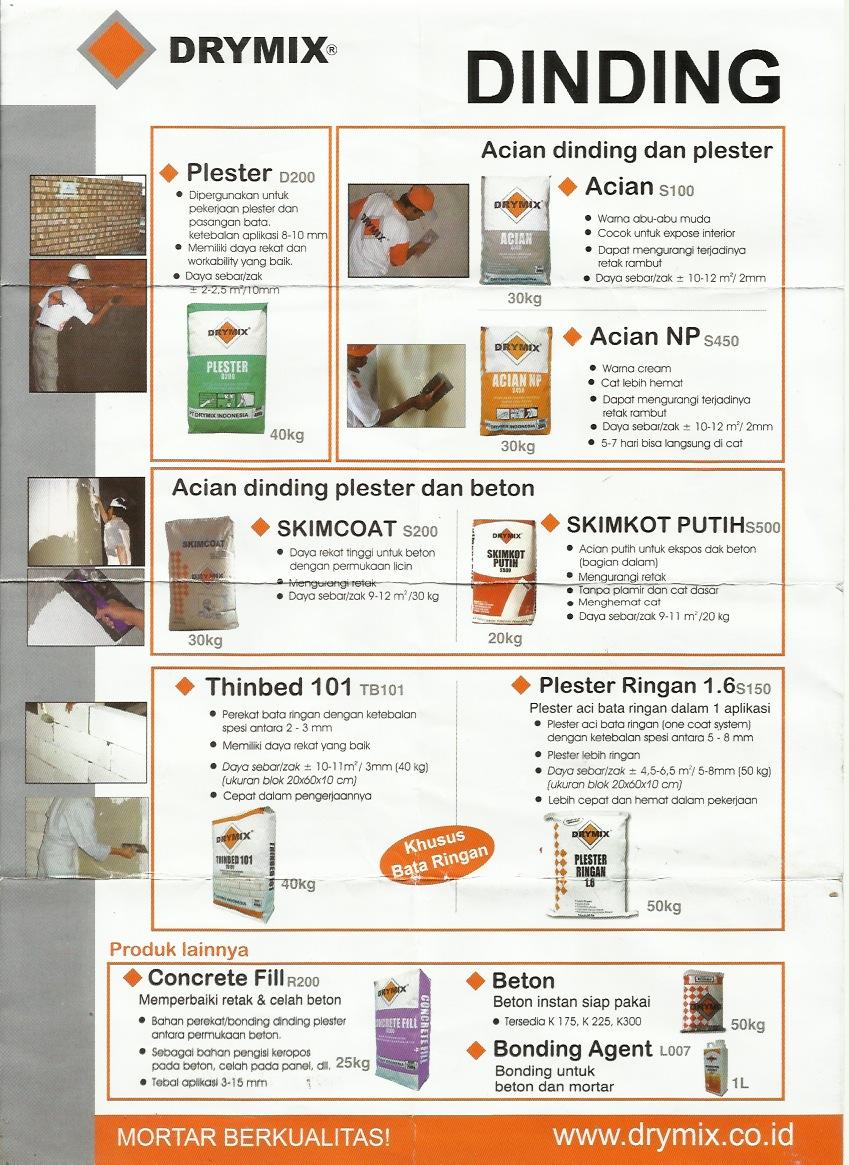 Aplikasi Plesteran Dinding dan Beton Drymix