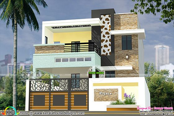 2686 square feet 4 bedoom South Indian style modern home
