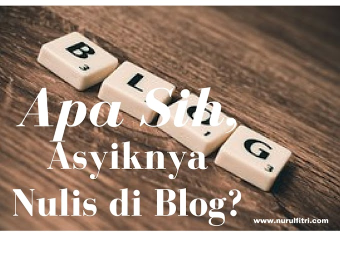 Apa Sih, Asyiknya Nulis di Blog?
