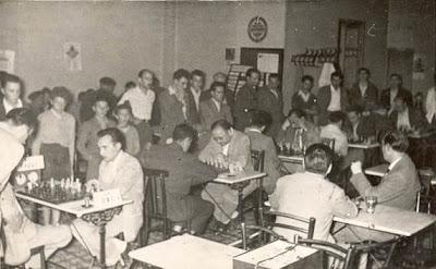 Sala de juego del Torneo Nacional de La Pobla de Lillet 1957